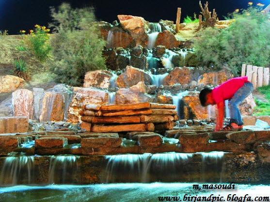 آبشار پارک صیاد شیرازی بیرجند
