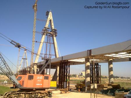 عکس پل جدید چهارشیر اهواز