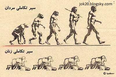 سیر تکامل زن ها و مردها jok20