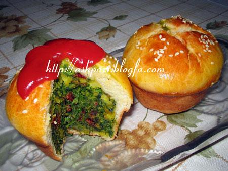 کوکو سبزی در خمیر