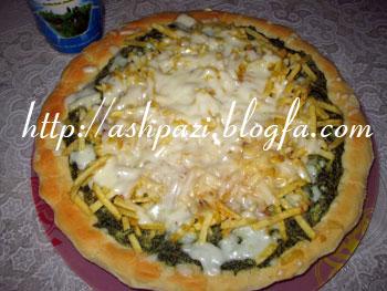 پیتزا کوکو سبزی