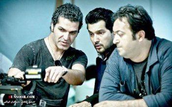 عکس از پشته صحنه سریال سقوط آزاد