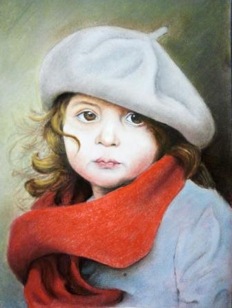 نقاشی پرتره دختربچه