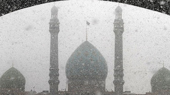 برف پاییزی در قم