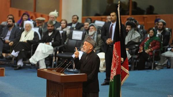 سخنان کرزی در مراسم گشایش لویه جرگه در کابل