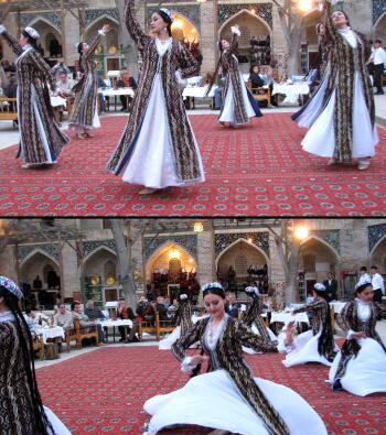 رقص محلی زنان و دختران بخارایی