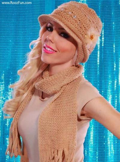 مدل شال و کلاه دخترانه 2012 | www.RoozFun.com