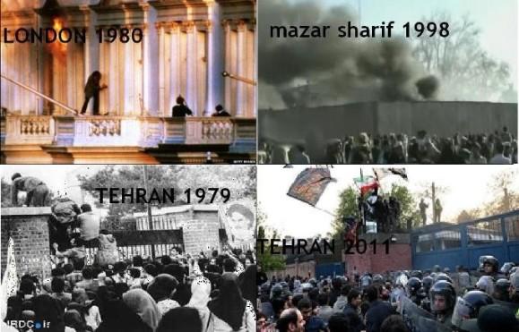 کشتار در سفارت ایران در لندن و مزار شریف حمله به سفارت آمریکا و انگلیس در تهران