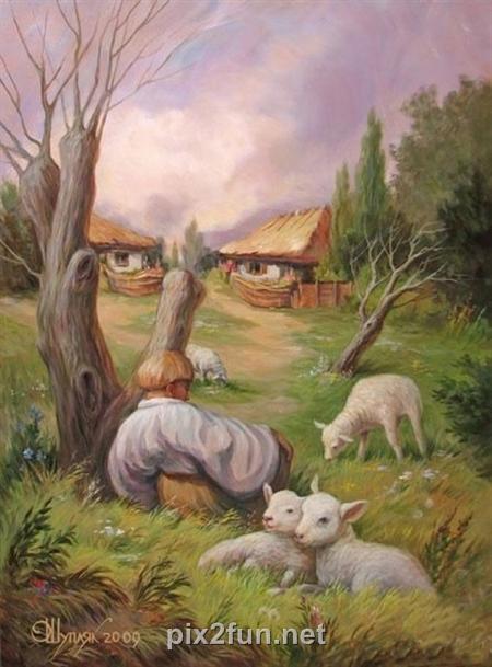 13225077824 عکس چهره های پنهان در نقاشی ها