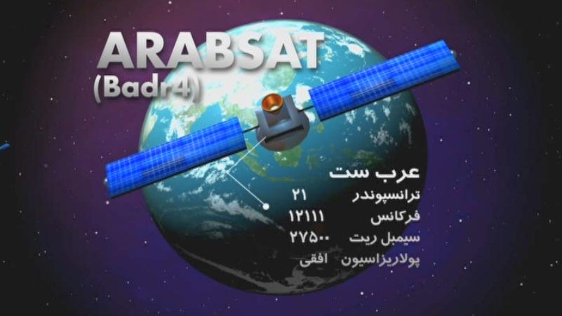 سومین فرکانس شبکه منو تو 1 روی ماهواره عربست ( بدر 4 )