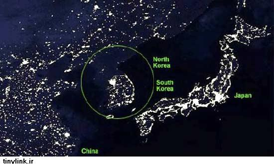 تفاوت جالب کرهشمالی و کرهجنوبی از فضا