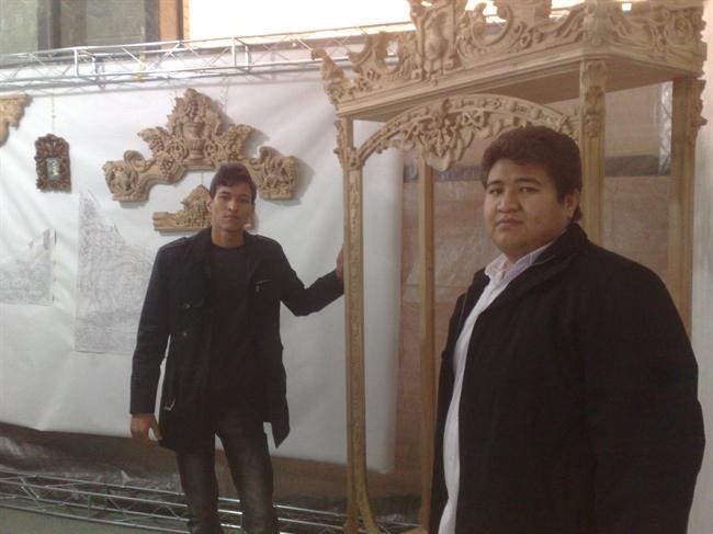 عکس: شکوه پامیر نمایشگاه صنایع دستی و هنرهای تجسمی افغانستان در قم