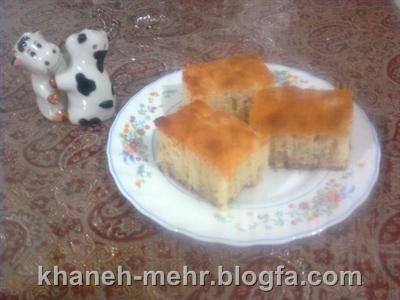 کیک موز ونارگیل