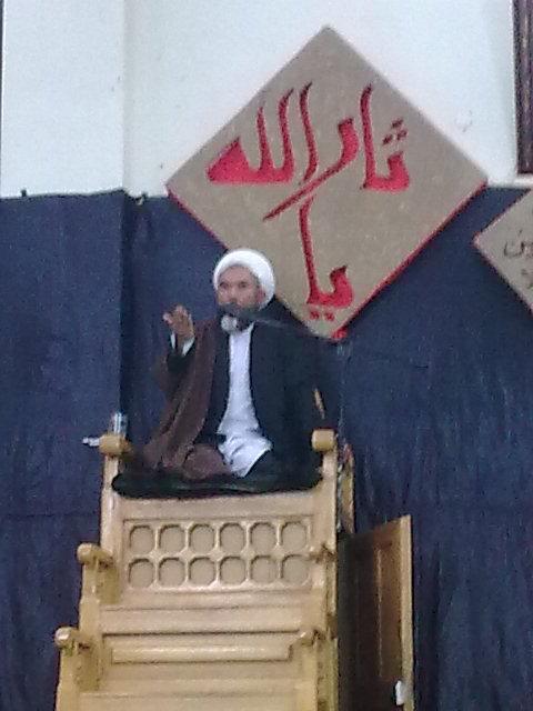 سخنران محترم حجت الاسلام و المسلمین استاد فیاض