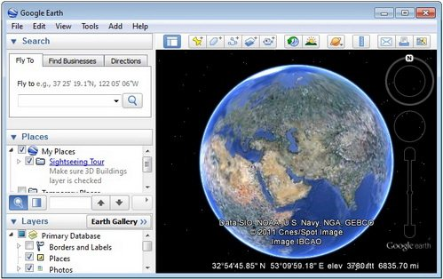 Google Earth 6.1.0.5001