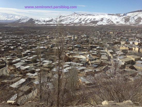 نمای شهرستان سمیرم در پاییز
