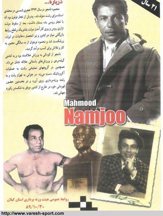 محمود نامجوی - سایت هوداران داماش گیلان