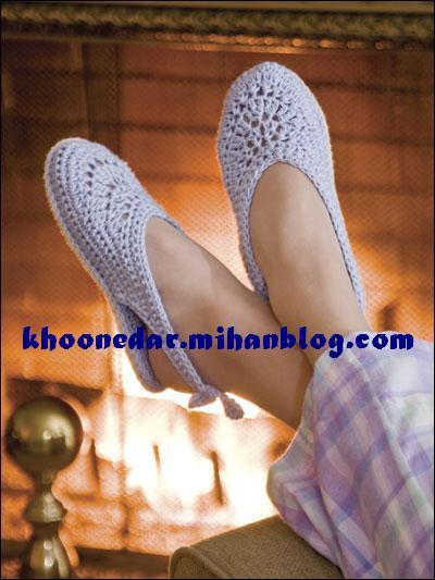 مدل کفش های قلاب بافی
