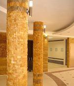 گالری ستون های های اجرا شده با نمای سنگ آنتیک