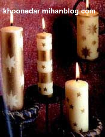 آموزش ساخت شمع های زینتی