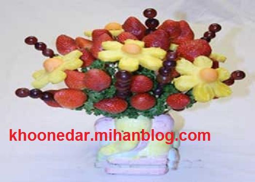 آموزش ساخت سبد میوه