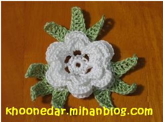 آموزش گل قلاب بافی