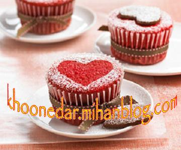کیک سرخ عاشقانه