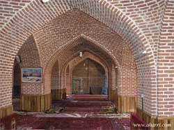 نمای داخلی مسجد جامع اهر