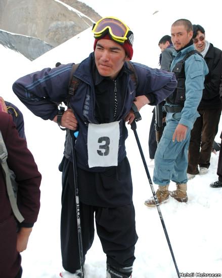 عکس از مسابقه اسکی در بامیان