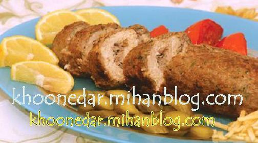رولت قارچ و گوشت