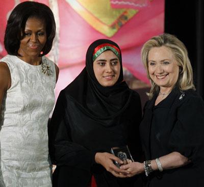 مریم درانی جایزه بینالمللی زن شجاع را بهدست آورد