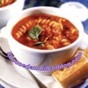 سوپ گوجه فرنگی با ورمیشل