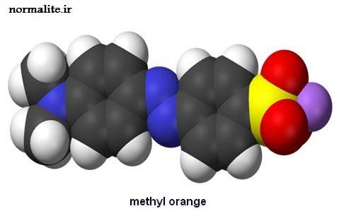 ساختار فضایی متیل اورانژ