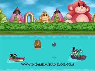 بازی فلش زیبا و كم حجم میمون رنگین كمان نسخه ی 1
