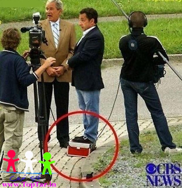 سوتی جالب رییس جمهور فرانسه / عکس