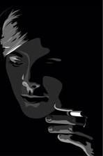 عکس تنهایی و سیگار