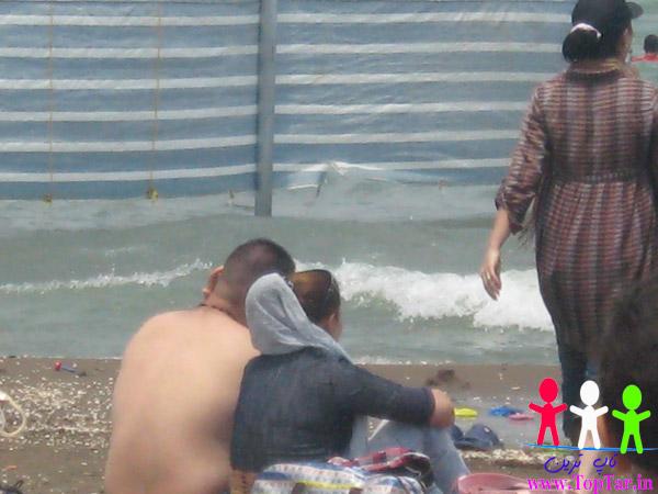 بد حجابی کنار دریا