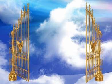 بک گراند زیبا و رویایی با عنوان درب بهشت
