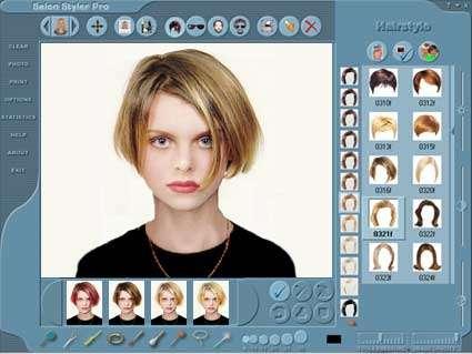 نرم افزار  مدل مو Salon Styler Pro Hairstyle Imaging