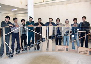 تیم فیلمبرداری در فیلم کوتاه رزمی اردبیل