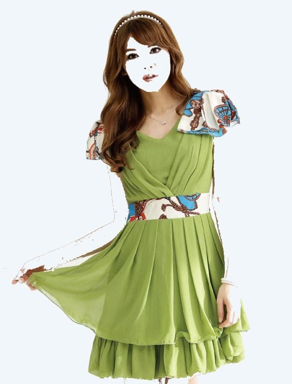 مدل لباس کوتاه شیک دخترانه کره ای