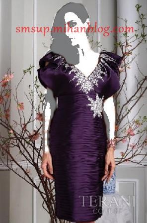 مدل لباس شب بنفش