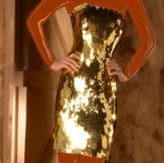 مدل لباس طلایی زنانه