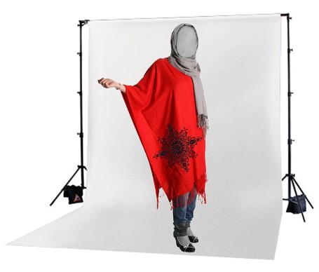 مدل پانچو زنانه قرمز