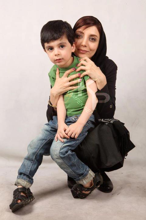 عکس جدید رویا میر علمی و پسرش