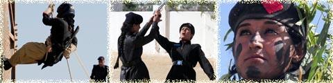 عکس های کماندوهای زن پاکستانی اذر 1391