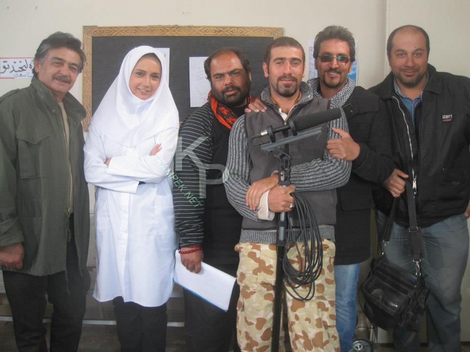 عکس های شبنم قلی خانی در پشت صحنه فیلم هایش