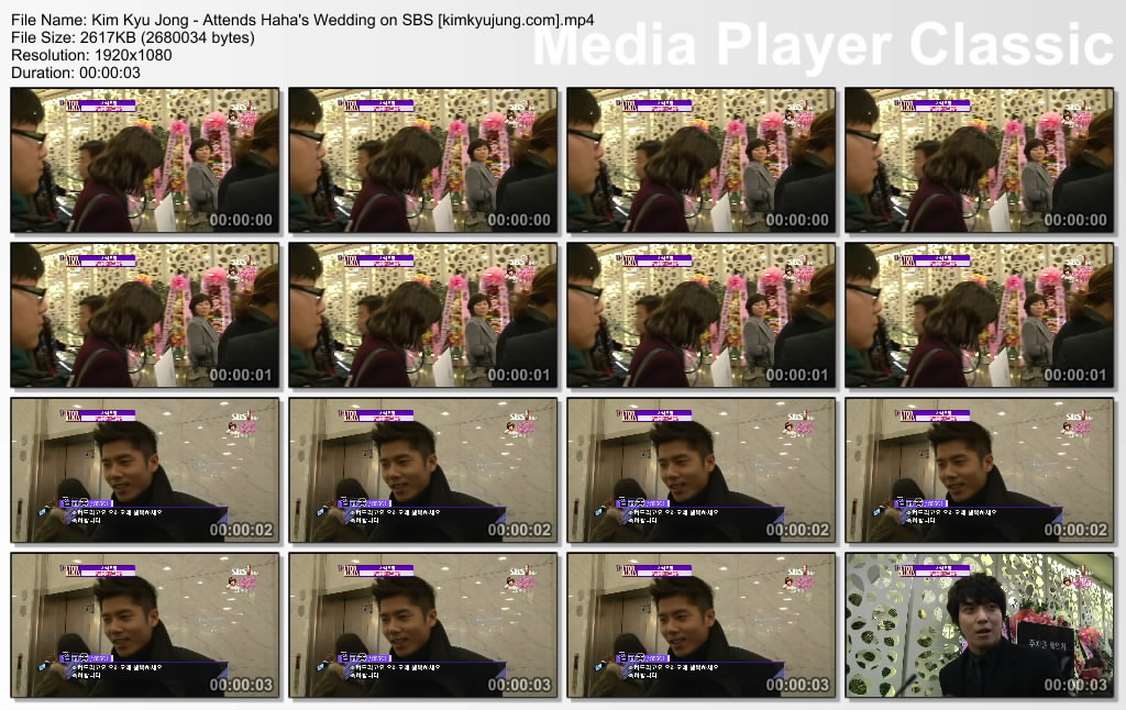 bs20121219161930 [Video] Kim Kyu Jong   Attends Hahas Wedding on SBS E! K STAR NEWS [12.12.18] by kerria007