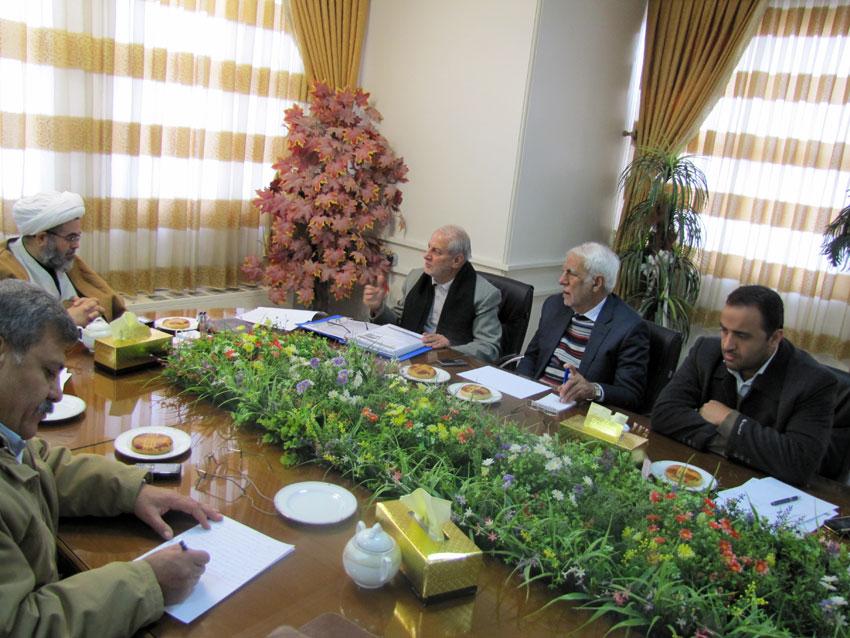 حجت الاسلام والمسلمین مالک اژدر شریفی در جلسه ستاد بشردوستانه حمایت از  آسیب دیدگان زلزله آذربایجان