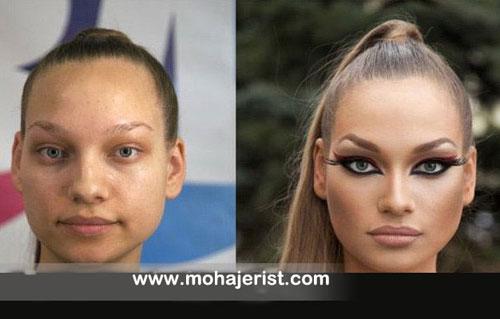 مردی که قادر است زنان معمولی را به چهره های جذاب و زیبا تبدیل کند!